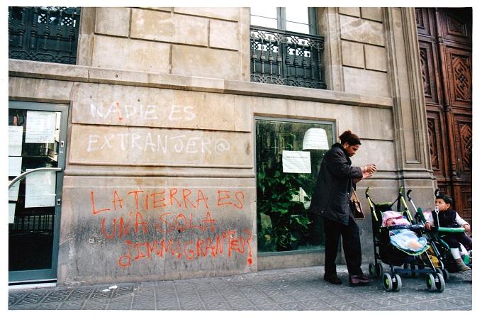tancada_migrants_caritas_barcelona